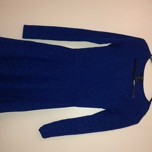 Navy blue long sleeve dress!